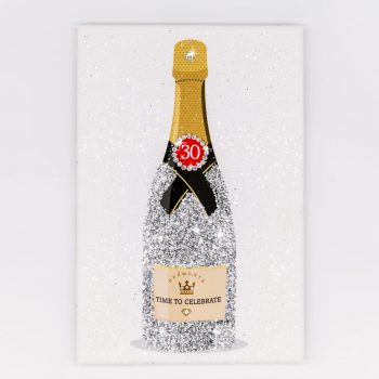 Diamond effect champagne bottle