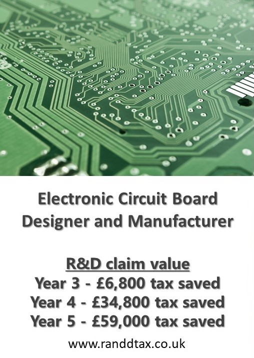 case study Electronic Circuit R&D tax credit claim