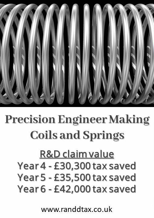 case study Precision Engineering Coils and Springs R&D tax credit claim