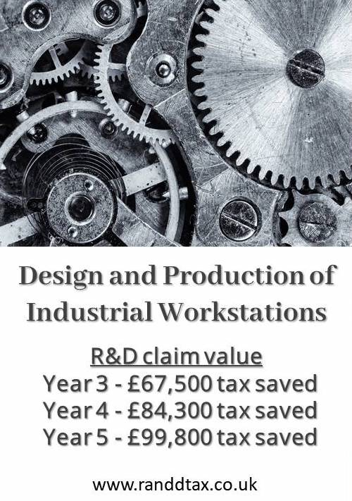 case study R&D tax credit claim Electromechanical Engineering Recycling Equipment