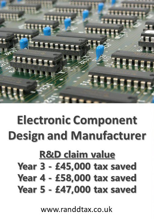 case study R&D tax credit claim Electronic Component Design and Manufacturer