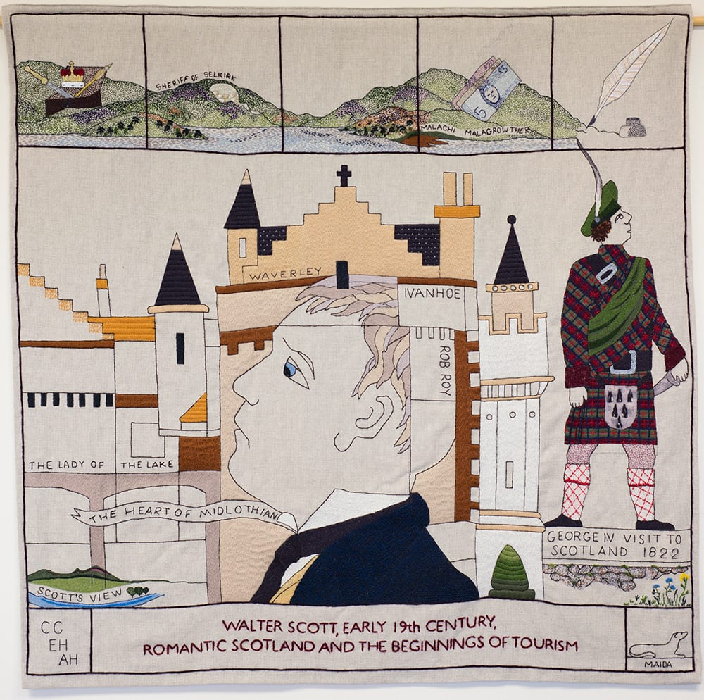 Walter Scott panel The Great Tapestry of Scotland