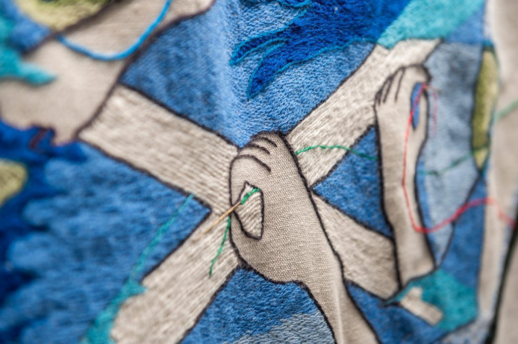 Stitching hands The Great Tapestry of Scotland