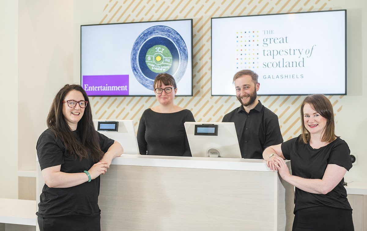 The staff at The Great Tapestry of Scotland